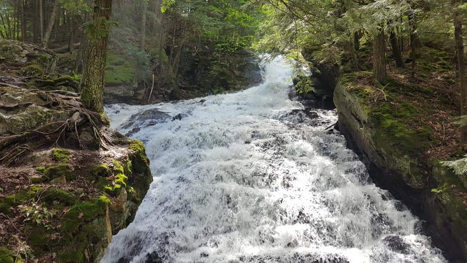 Thunder Falls Trail in Killington, VT