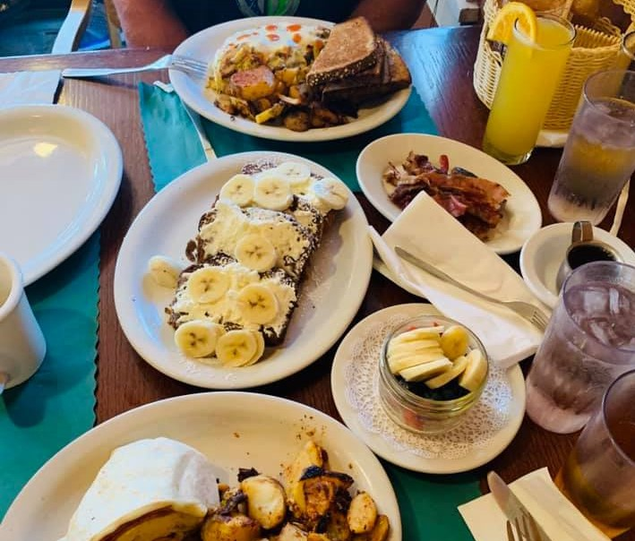 Breakfast dishes at Back Country Cafe in Killington