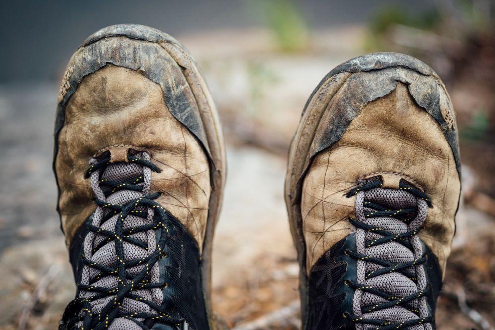 hiking boots in killington