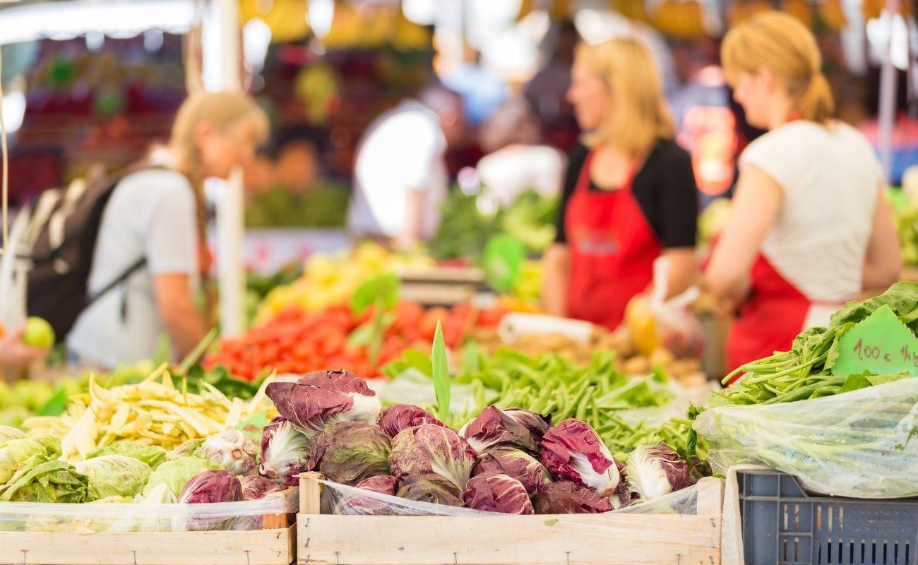 Delicious produce at a farmers market near Killington