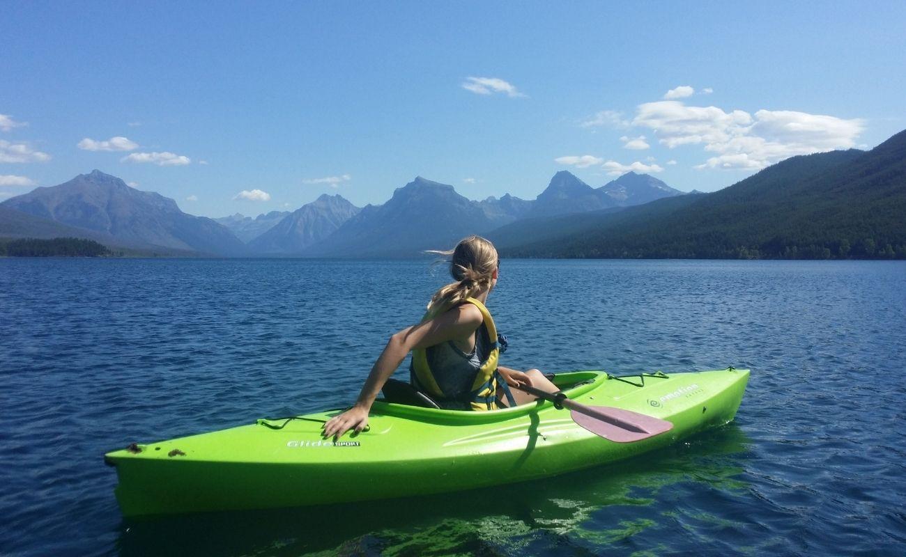 A kayaker enjoying their Killington summer activity